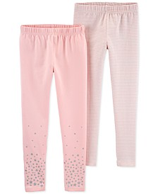 Little & Big Girls 2-Pk. Stars & Striped Leggings