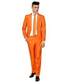 Men's Solid Orange Color Suit