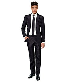Men's Solid Black Color Suit