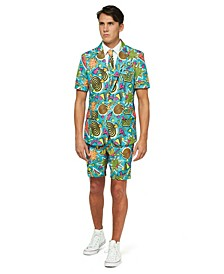 Men's Retro Blue 90's Icons Retro Summer Suit