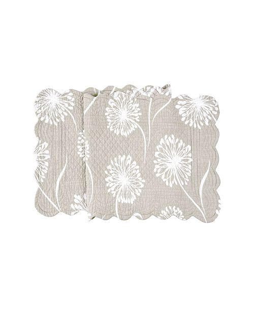 """C&F Home C F Home Guinevere Quilted Runner, 14""""X 51"""""""