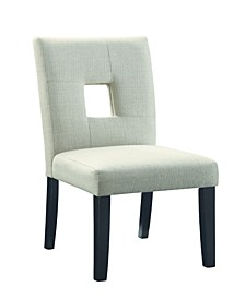 Searcy Upholstered Side Chairs with Square Cutout In Seat Back, Set of 2