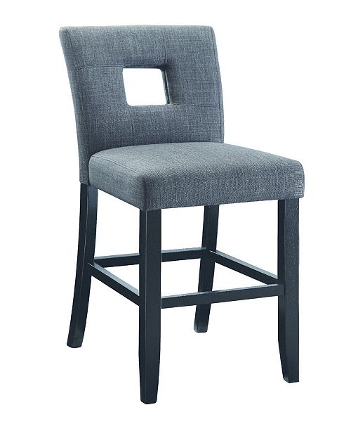 Coaster Home Furnishings Searcy Counter Stools with Square Cutout In Seat Back, Set of 2