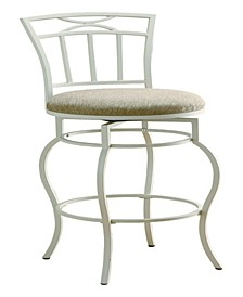 "Corona 29"" Metal Bar Stool with Upholstered Seat"