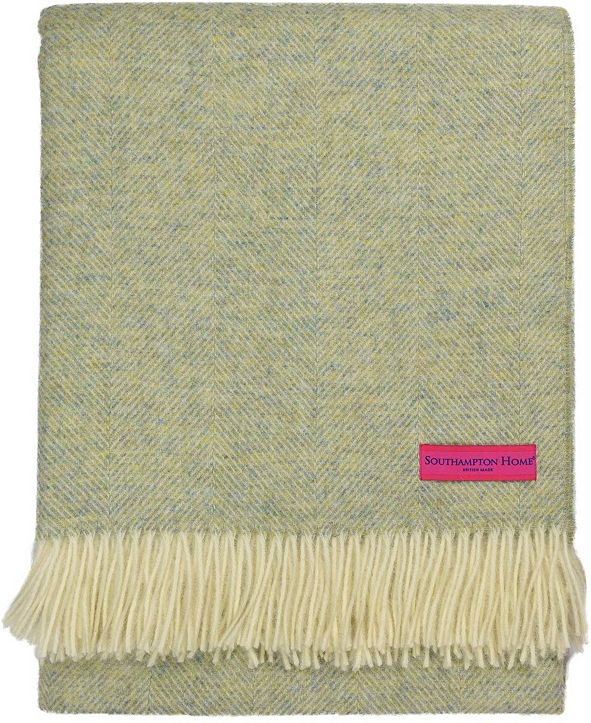 Southampton Home Wool Herringbone Throw