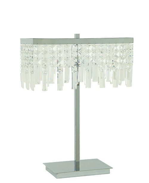 Coaster Home Furnishings Moline Dropped Crystal Shade Table Lamp
