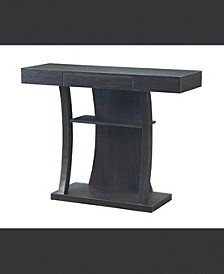 Olathe T-Shaped Console Table with 2 Shelves
