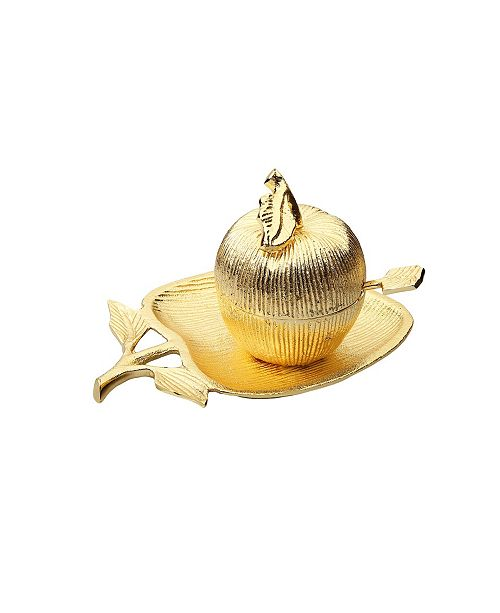 Classic Touch Apple Shaped Dish with Removable Honey Jar