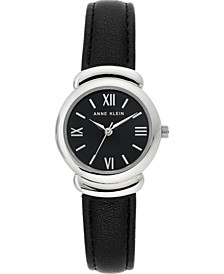 Women's Black Strap Watch 28mm