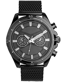 INC Men's Black Mesh Bracelet Watch 49mm, Created For Macy's
