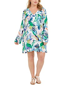 Plus Size In the Moment Printed Tunic Cover-Up