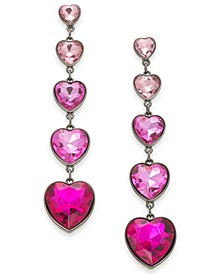 Pink Ombre Heart Linear Earrings, Created For Macy's