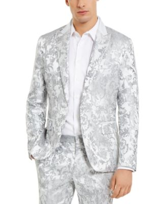I.N.C. Men's Slim-Fit Embroidered Floral Jacquard Suit Jacket, Created For Macy's