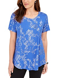 Short-Sleeve Metallic-Print T-Shirt, Created for Macy's