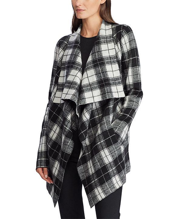 Lauren Ralph Lauren Open-Front Wool Sweater