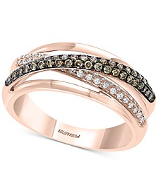 EFFY® Diamond Overlap Statement Ring (3/4 ct. t.w.) in 14k Rose Gold
