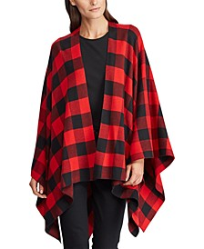 Buffalo Check Poncho Sweater
