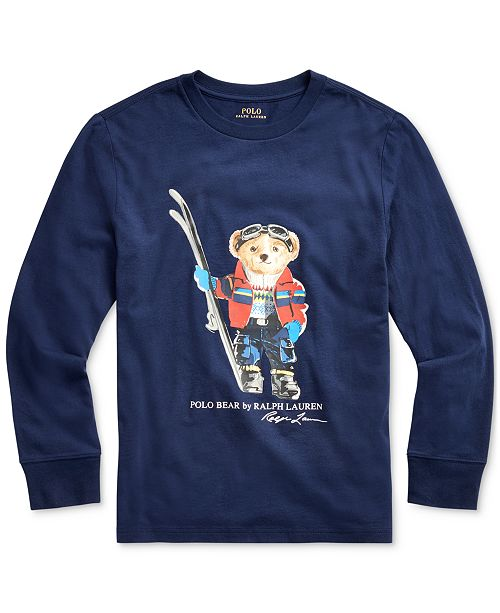Polo Ralph Lauren Big Boys Ski Bear Cotton Jersey T-Shirt