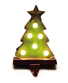 "7.48"" H Marquee LED Tree Stocking Holder"