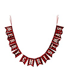 8.75' L Merry Christmas Plaid Banner Garland
