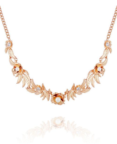 T Tahari Fall in Love with Florals Statement Necklace