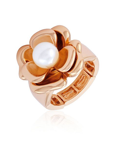 T Tahari Fall in Love with Florals Stretch Ring