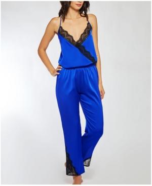 - Tess Stretch Satin Contrast Lace Jumper