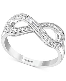 EFFY® Diamond Infinity Statement Ring (1/4 ct. t.w.) in 14k White Gold
