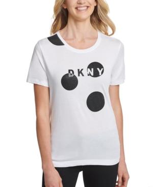 Dkny T-shirts CIRCLES LOGO T-SHIRT
