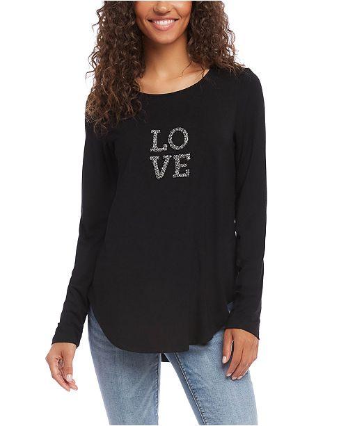 Karen Kane Embellished Love Top
