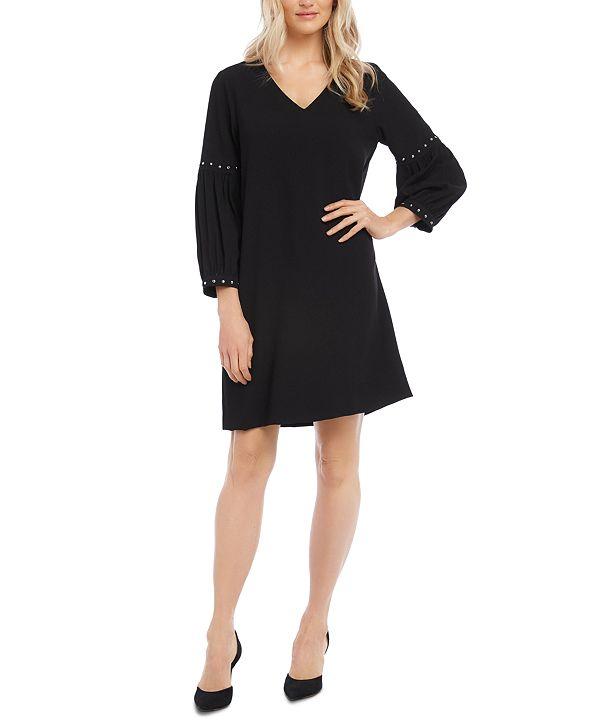 Karen Kane Studded-Sleeve Shift Dress