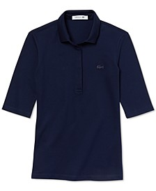 Half Sleeve Slim Fit Stretch Pique Polo Shirt