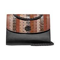 Macys deals on COACH Coated Canvas Signature Exotic Shoulder Bag