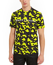 Men's Hyperbright Camo Logo T-Shirt, Created for Macy's