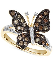 EFFY® Diamond Butterfly Statement Ring (1/2 ct. t.w.) in 14k Gold