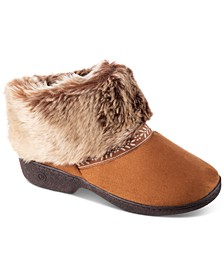 Women's Microsuede Addie Boot Slippers With Memory Foam