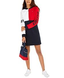 Colorblocked Hoodie Dress