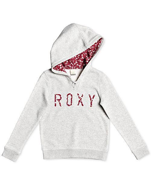 Roxy Little & Big Girls Floral Logo Hoodie
