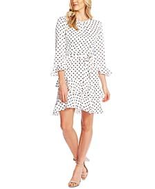 Tiered Ruffled Polka-Dot Dress