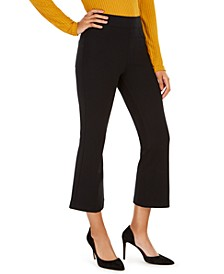 The Perfect Petite Black Pant Cropped Flare Pants