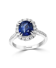 EFFY® HEMATIAN Sapphire (3-1/10 ct.t.w.) & Diamond (3/8 ct.t.w.) Ring in 18k White Gold