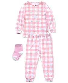 Baby & Toddler Girls 3-Pc. Pajamas & Socks Set
