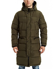 Men's Long Hooded Down Puffer Jacket