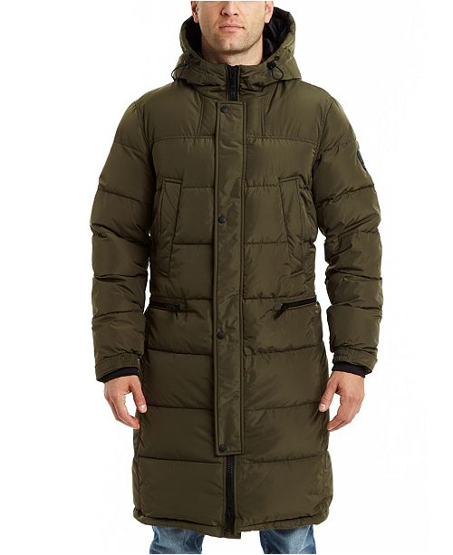 Vince Camuto Men's Long Hooded Down Puffer Jacket