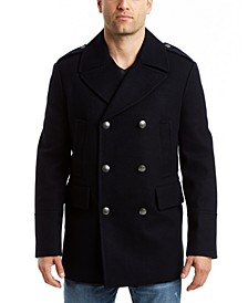 Men's Double Breasted Nautical Peacoat Jacket