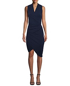 Asymmetrical Faux Wrap Dress