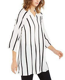 Striped Roll-Tab Tunic, Created For Macy's