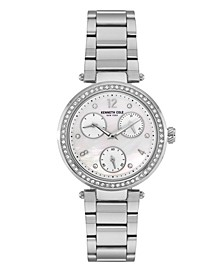 Women's Silver-Tone Stainless Steel Bracelet Watch, 35mm