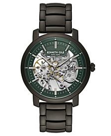 Men's Gunmetal Stainless Steel Bracelet Watch, 42.5mm