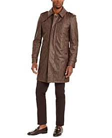 Men's Faux Snakeskin Trench Coat